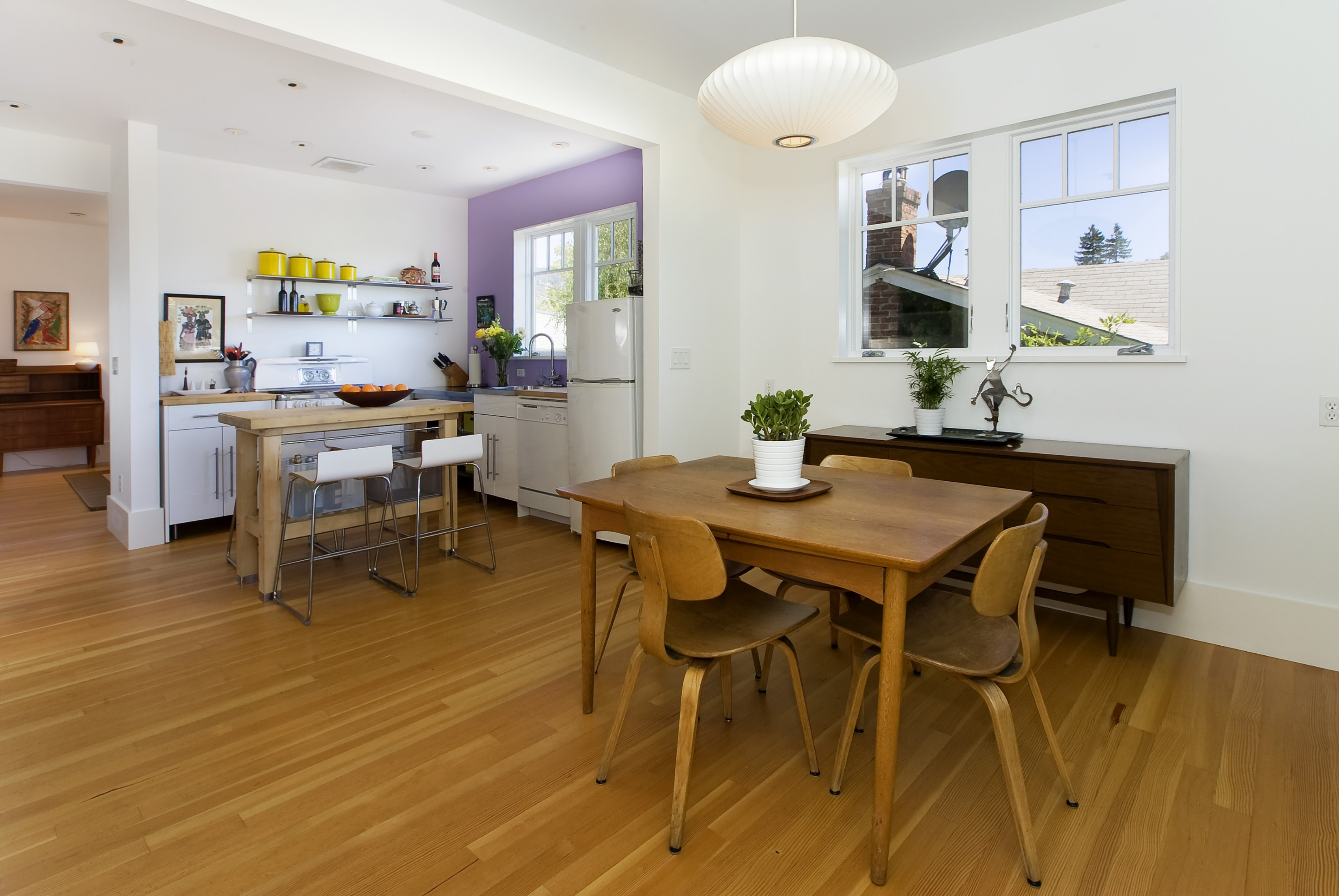 Tropical Modern Bungalow kitchen dining room